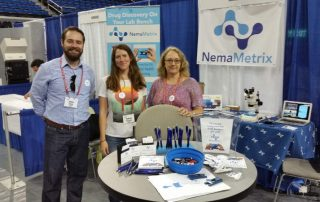 The NemaMetrix team at the 20th International C. elegans Meeting in September 2015