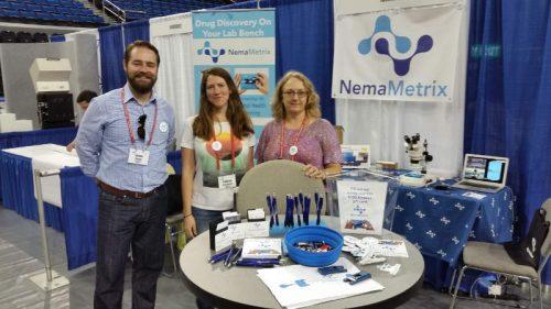 The NemaMetrix team at the 20th International C. elegans Meeting in September 2015