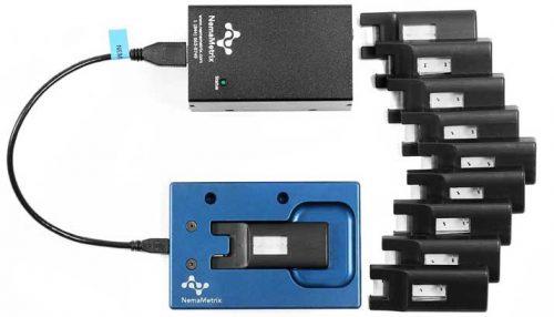 NemaMetrix ScreenChip Cartridges, Dock, and Amplifier