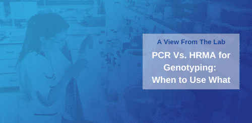 PCR Vs. HRMA for Genotyping: When to Use What
